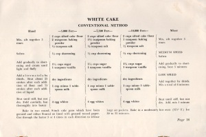 White Cake, Conventional Method